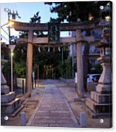 Night Falls On Esaka Shrine Acrylic Print