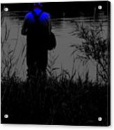 Night Fisherman Acrylic Print