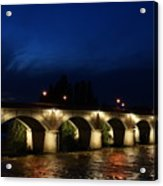 Night In Amboise Acrylic Print
