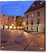 Night In City Of Jelenia Gora In Poland Acrylic Print