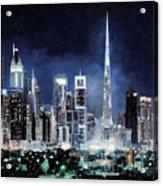 night in Dubai City Acrylic Print