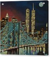 Night In Manhattan Acrylic Print