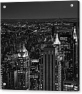 Night In Manhattan Acrylic Print