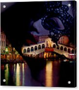 Night In Venice Acrylic Print