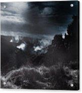 Night Landscape. Australian Mountain View Acrylic Print