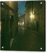Night Life In Urbino  Acrylic Print