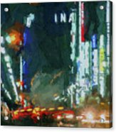 Night Lights City Acrylic Print