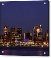 Night Lights Of Downtown Vancouver Acrylic Print