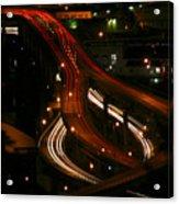 Night Lights Oregon Acrylic Print