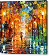 Night Mood In The Park Acrylic Print
