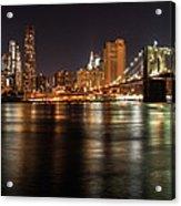 Night Nyc Panorama Acrylic Print