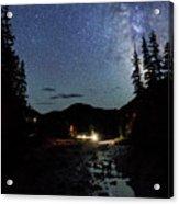 Night On The Blue River Acrylic Print