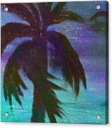 Night Palm Acrylic Print