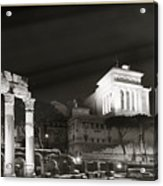 Night Panorama In Rome Acrylic Print