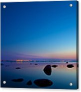 Night Reflections Sea Scape After Sunset Acrylic Print