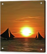 Night Sail Acrylic Print