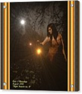 Night Search No. 8 H A With Decorative Ornate Printed Frame Acrylic Print