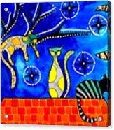 Night Shift - Cat Art By Dora Hathazi Mendes Acrylic Print