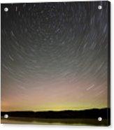 Night Shot Star Trails Lake Acrylic Print