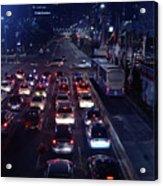 Night Skyline Of Jakarta Indonesia 2 Acrylic Print