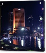 Night Skyline Of Jakarta Indonesia 3 Acrylic Print
