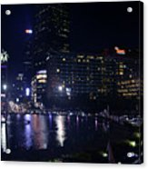 Night Skyline Of Jakarta Indonesia 4 Acrylic Print