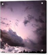 Night Storm Acrylic Print by Amanda Barcon