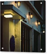 Night Street Cafe Acrylic Print
