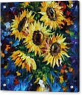 Night Sunflowers Acrylic Print