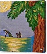 Night-swimming Mercat Acrylic Print