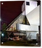 Night Time At The Rock Hall Acrylic Print