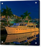 Night Time In Fort Lauderdale Acrylic Print