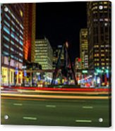 Night Time In The D Acrylic Print