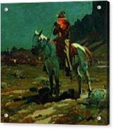 Night Time In Wyoming Acrylic Print