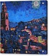 Night Time View Of Cork City Acrylic Print