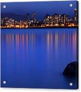 Night Vancouver Cityscape Acrylic Print