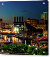 Night View Inner Harbor Acrylic Print