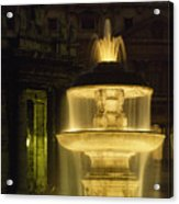 Night View Of A Fountain Outside Saint Acrylic Print
