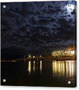 Night View Of Bar Harbor Maine Acrylic Print