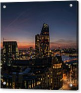 Night View Of The City Of London Acrylic Print