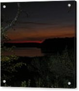 Night View Over Pond Acrylic Print