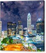 Night View Scenes Around Charlotte North Carolina Acrylic Print