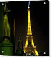 Night Vision - Eiffel Beauty Acrylic Print