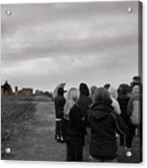 Night Vision Ghost Story In Bradgate Park. Acrylic Print