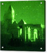 Night Vision Mosque Kandahar Acrylic Print