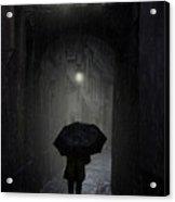 Night Walk In The Rain Acrylic Print