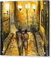 Night Walk Together Acrylic Print
