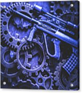Night Watch Gears Acrylic Print