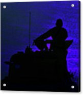 Night Watch Over The Pacific Acrylic Print