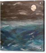 Night Waves Acrylic Print by Patti Spires Hamilton